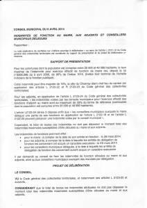 Indemnités du Maire, des Adjoints, Conseilllers municipaux délégués