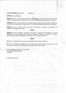 Indemnités du Maire, Adjoints, Conseillers municipaux délégués