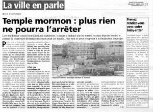 Toutes Les Nouvelles - Temple Mormon-01.10.2014